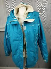 Trespass Turquoise Blue Zip Fastening Hooded Waterproof Jacket Size 14