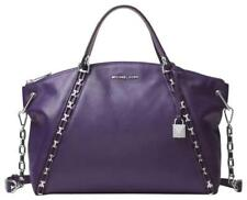 Michael Kors Sadie Satchel Purse Purple Leather Chain Strap