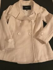 Womens BNCI By Blanc Noir size Small Ivory Winter Dress Jacket Coat