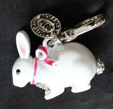 NWT Juicy Couture LTD ED PAVE SNOW BUNNY CHARM Tagged Box White Rabbit Silver Cl