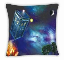 Dr Doctor Who Tardis Police Box Throw Pillow Cushion Case Cover Free