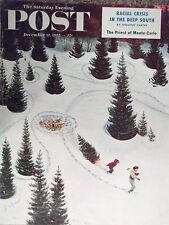 1955 Saturday Evening Post Cutting Down The Tree John Clymer Cover Only