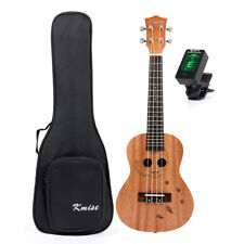 Concert Ukulele 23 Inch Uke Hawaii Guitar Mahogany Carved Cat W/Gig Bag Tuner