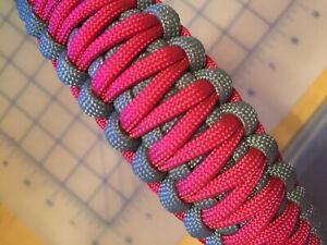 Pink Paracord Dog Collar
