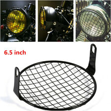 "Universal 6.5"" Motorcycle Cafe Racer Headlight Mesh Grille Protector Cover Metal"
