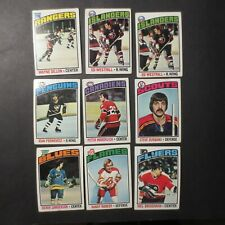 Pick From List: 1976-77 Topps Hockey Cards Mostly VG/Ex/Exmt