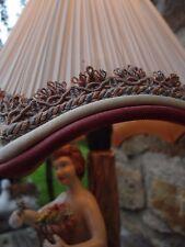 lampe signée avec un magnifique abat-jour en tissus plissé ancien capodimonte???