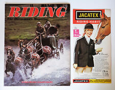 Vintage RIDING Magazine & Jacatex Booklet: Nov 1976, World Driving Championships