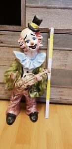 Porzellan Clown, ca. 47cm. Dekoration