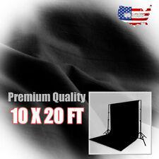 New Studio 10 x 20 Ft. Black Muslin Photo Backdrop Photography Background
