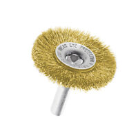 2 Wire Cup/Wheel Brush For Drill Steel Brass Metal Cleaning Rust Sanding Tool