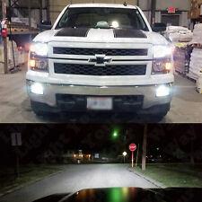 White LED H11 Low Beam Headlight + 5202 Fog Light Bulbs For 2015 2016 Silverado