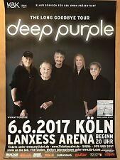DEEP PURPLE 2017 KÖLN   -- Tour Poster - Concert Poster