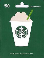 $50 Starbucks Gift Card - USA Regular Mail Only