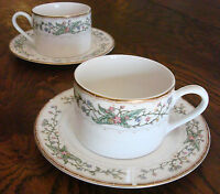 set of 2 Farberware China WELLESLEY  coffee cup & saucer Katherine Bobonovsky
