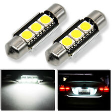Audi B5 A4 S4 Error Free License Plate Lights LED Festoon 36mm Bulbs (Pair)