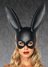 Womens Gothic Black Rabbit Eyemask
