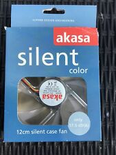 Akasa Silent Color 12cm Case Fan For PC. New Damaged Box