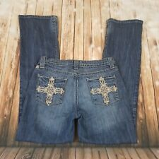 Cruel Girl Jeans Juniors Slim Size 9 Cowgirl Thick stitch Pockets Straight leg