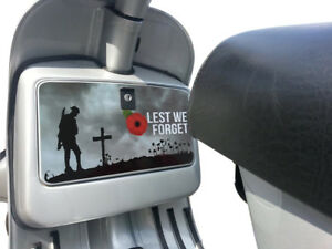 Tool Box Glove Box Sticker fits Vespa PX T5 LML Scooter Remembrance Poppy Decal