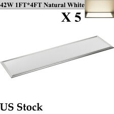 5X 42W 1FTX4FT LED Panel Light Dropped Ceiling Down Troffer Lamp Natural White