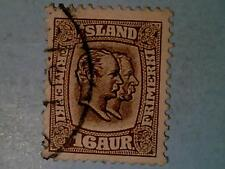 Iceland 1907 16 Aur Two Kings AFA55, Scott #78, VF Canceled