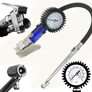 Professional Garage Air Line Tyre Pump Inflator Pressure Gauge For Compressor