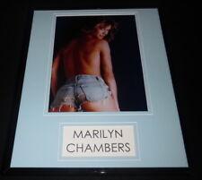 Marilyn Chambers Topless Framed 11x14 Photo Display