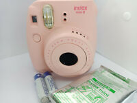 Fujifilm Instax MINI 8 Instant Camera - PINK - Built In Flash 10 shots Film Pack