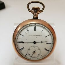 Watch Lever Set Working! (Pw153) Elgin 11 Jewels Open Face Pocket