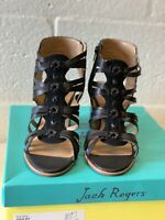 Jack Rogers Womens Hadley Black Strappy Sandals Size 8