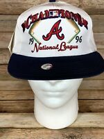 VTG 90s ATLANTA BRAVES 1996 National League Champions Snapback Hat NEW WITH TAGS