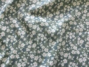 Silver / Grey  Floral Fabric  100% Cotton Material