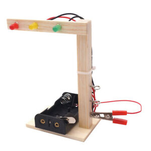 Kids Science Experiment DIY Traffic Light Assembly Educational Smart Toy