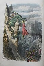 The Adventures of St. George. 10 hand-coloured plates by Gustave Dore.1858.Rare.