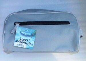 KINGSLEY, Gray MicroFiber Travel TOILETRY Ditty Bag Zipper Top DOPP TC-10 Unisex