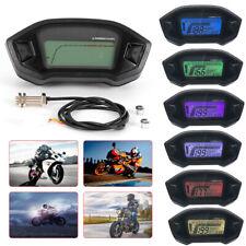 7-Farbe Digital Hint Motorrad LCD Digitaler Tachometer Kilometerzähler NEU
