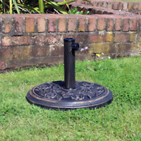 9KG Cast Iron Effect Parasol Base Heavy Duty Outdoor Umbrella Holder Patio Decor