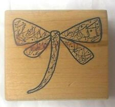 Dragonfly rubber stamp wood mounted insects Magenta stamps art collage designs