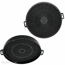 2 x Smeg K2 Carbon Charcoal Cooker Hood Round Filters