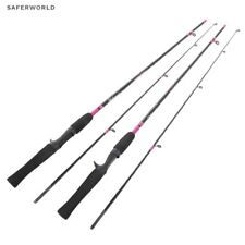 Pink Casting Fishing Rod Carbon Fibers Fly Boat Metal Rings 2 Sections Light Bas