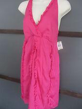 INC Dress Sz 4 4P Petite Hot Pink Fuschia Ruffles Mini Empire Carnival Line Sexy