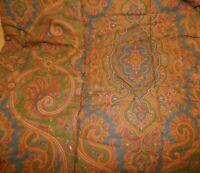Vintage Ralph Lauren Elizabeth Brianna Paisley Full Queen Reversible Comforter