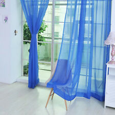 2X Home Floral Tulle Voile Door Window Curtain Drape Panel Sheer Scarf Valances