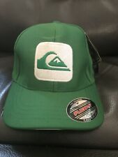 QUIKSILVER GREEN FLEXFIT S/M NEW HAT