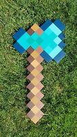 Minecraft Diamond Axe / Handmade of plywood / Cosplay Minecraft