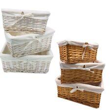 Wicker Basket Toy Cloth Storage Hamper Bin In Different size and Set