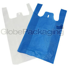 More details for high quality plastic vest carrier bags blue or white 11
