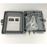Outdoor Fiber Optic Wall Panel 12Ports FTTH Splice Trays Termination Box