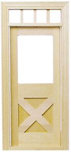 Dollhouse Miniature Crossbuck Door - Houseworks #6012 - 1:12 Scale